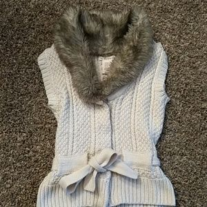 Other - Girls fux fur sleeveless sweater vest